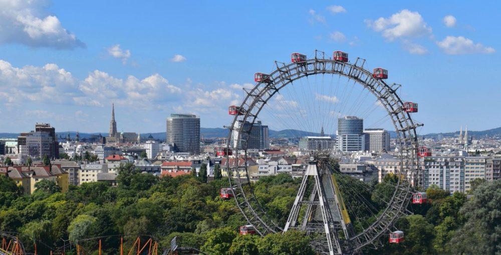 het prater attractiepark reuzenrad uitzicht over wenen