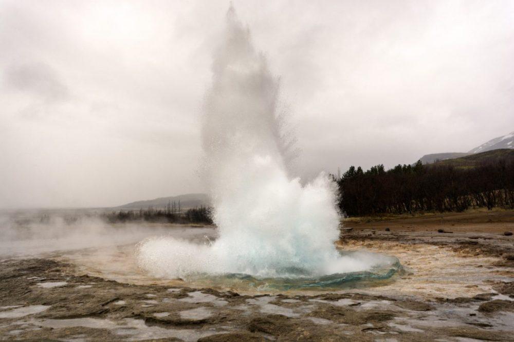 strokkur geyser in ijsland