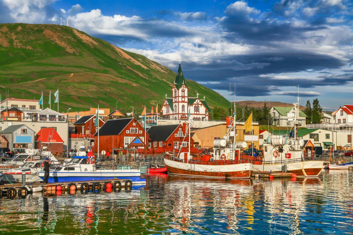 akureyri stadje in noorden van ijsland