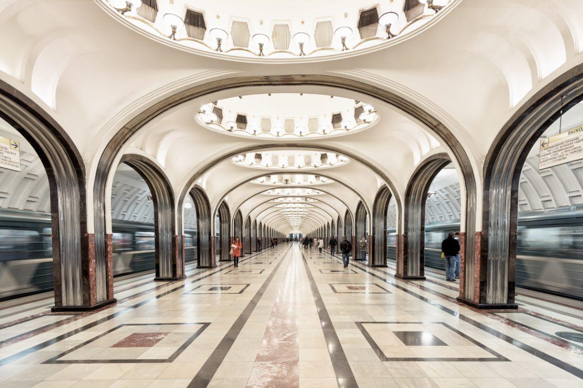 metro station moskou rusland