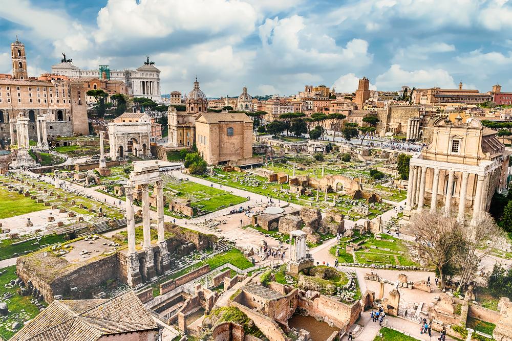 Rome, de stad van ver vervlogen tijden