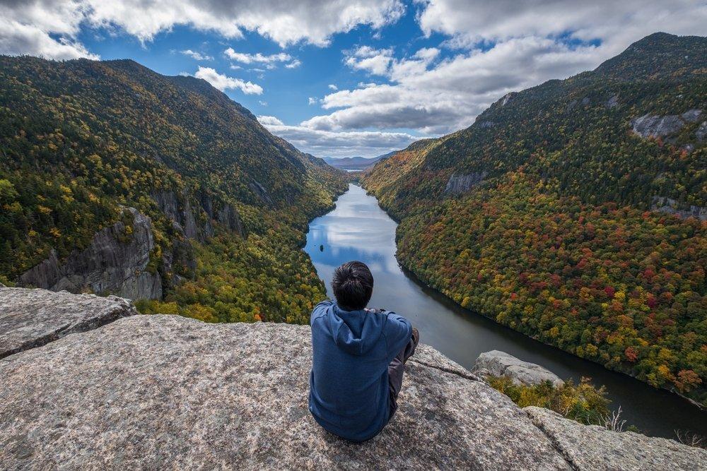 De natuur in wildlife en watervallen