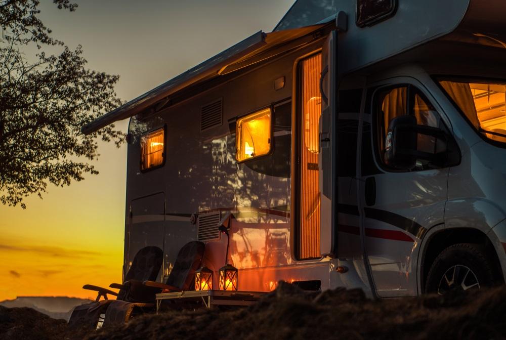 Verschillende campers